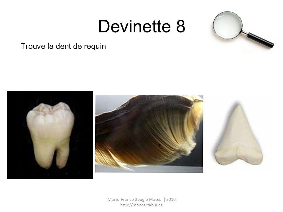 Devinette 8 Trouve la dent de requin Marie-France Bougie Masse | 2010 http://moncartable.ca