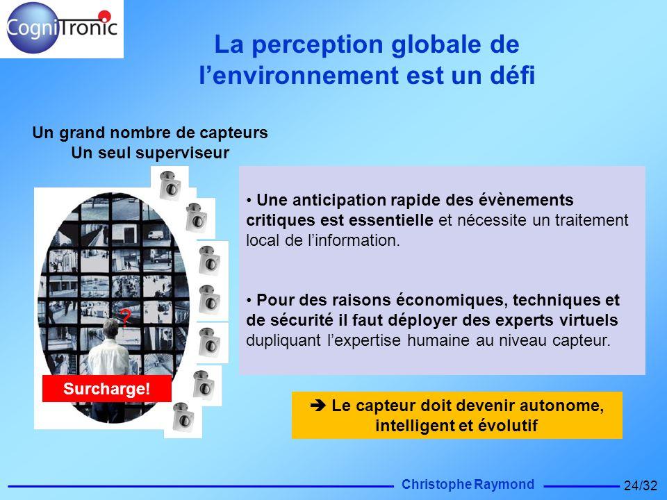 Christophe Raymond 24/32 Une anticipation rapide des évènements critiques est essentielle et nécessite un traitement local de linformation. Pour des r