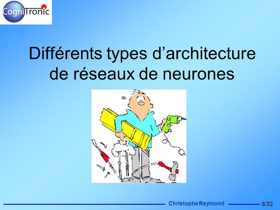 Christophe Raymond 8/32 Différents types darchitecture de réseaux de neurones