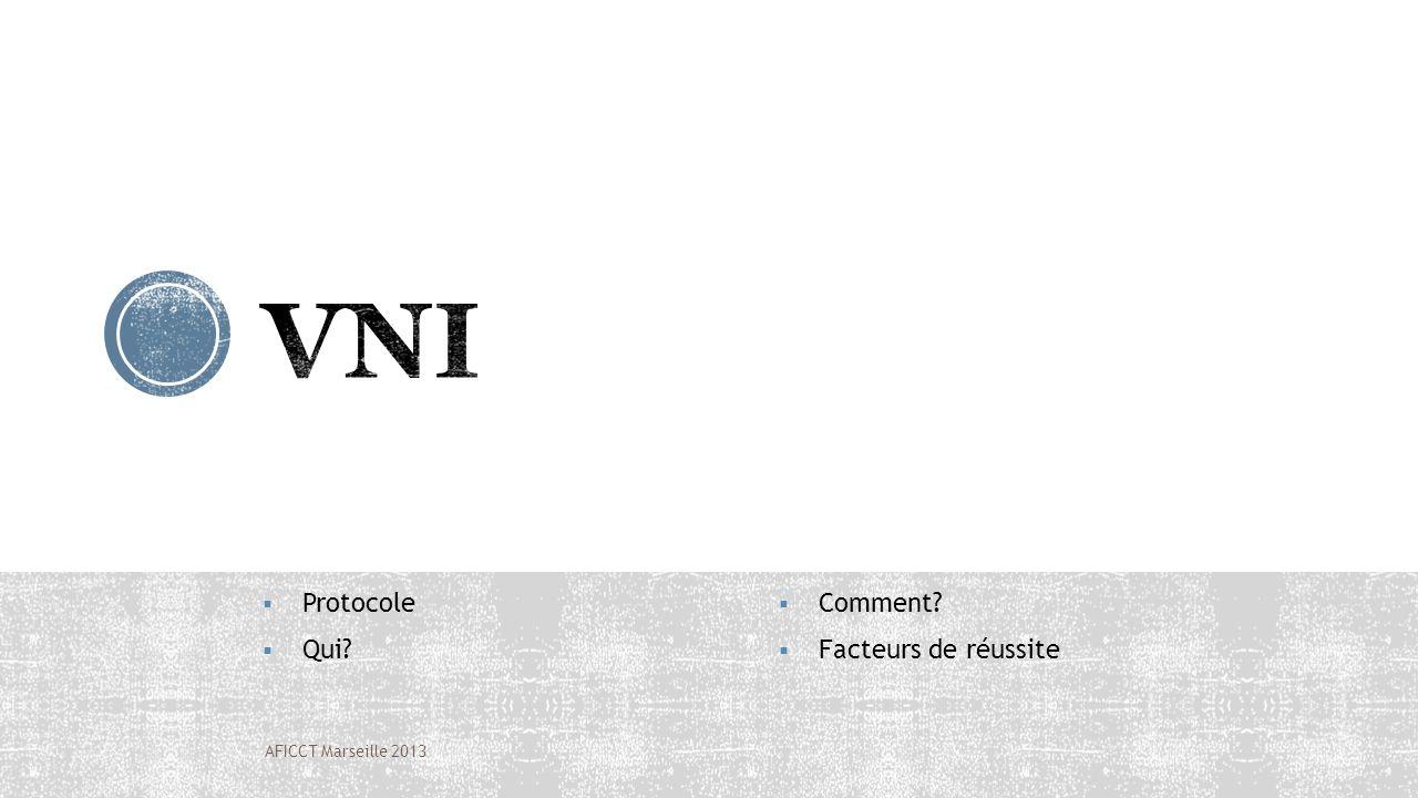 Protocole Qui? Comment? Facteurs de réussite AFICCT Marseille 2013