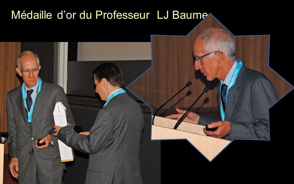 Médaille dor du Professeur LJ Baume
