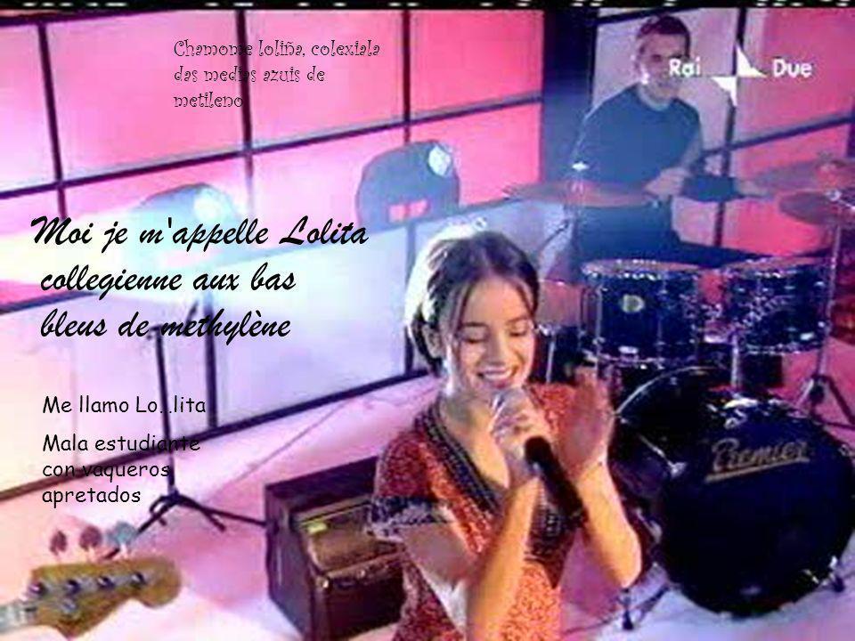 Moi je m'appelle Lolita collegienne aux bas bleus de methylène Me llamo Lo…lita Mala estudiante con vaqueros apretados Chamome loliña, colexiala das m
