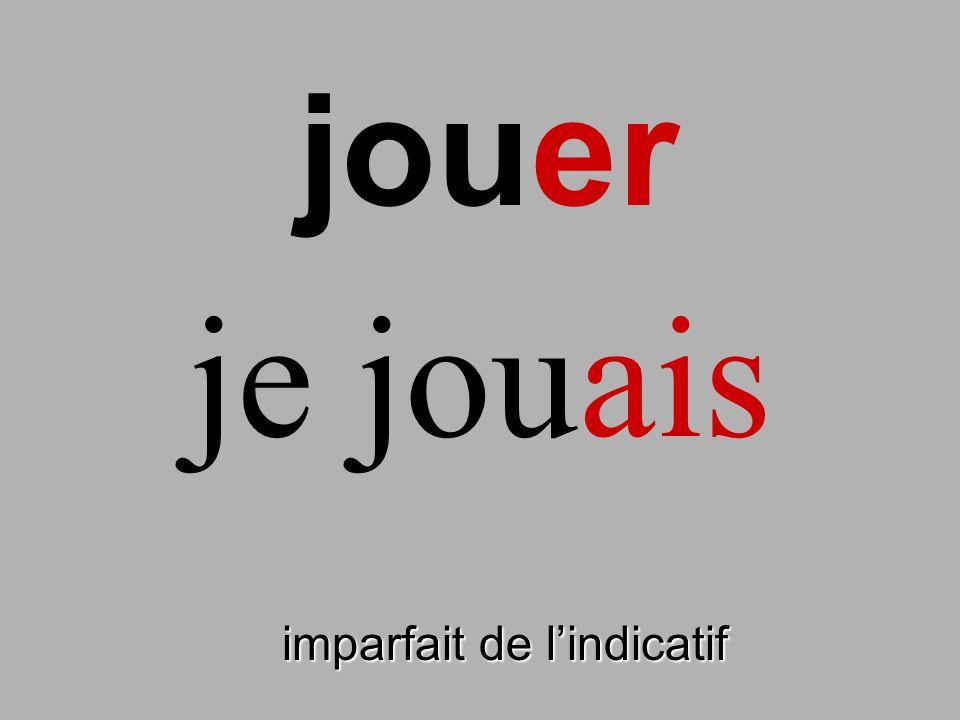 jouer imparfait de lindicatif