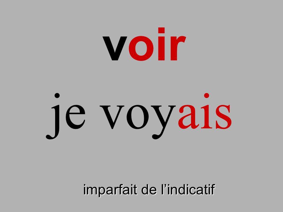 voir imparfait de lindicatif