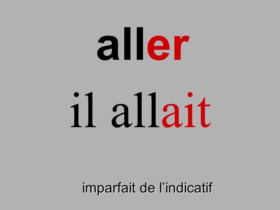 savoir imparfait de lindicatif