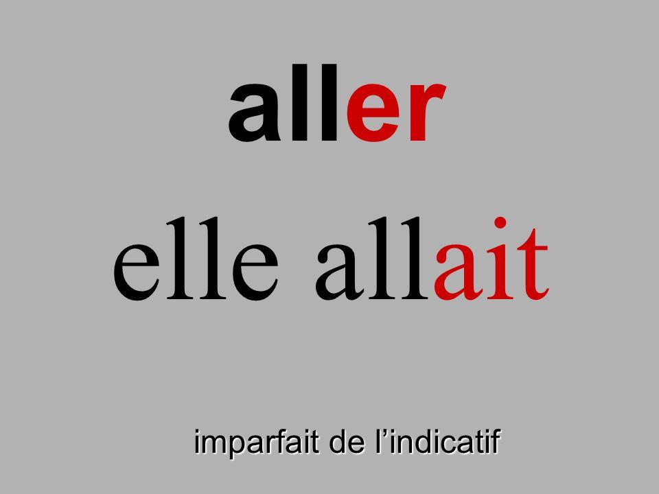 lire imparfait de lindicatif