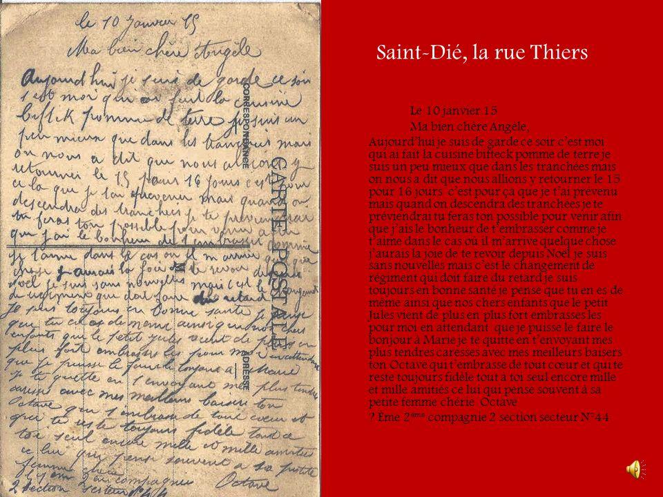 Les cols des Vosges-Wisenbach Le 10 mars Ma bien chère Angèle, je nai pas encore reçu de tes nouvelles mais jespère que tu es bien rentrée.