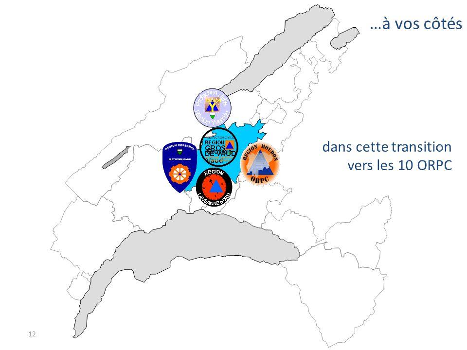 12 …à vos côtés dans cette transition vers les 10 ORPC Gros-de- Vaud
