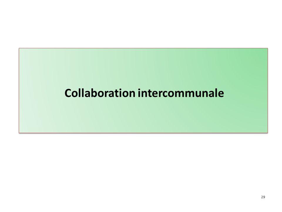 29 Collaboration intercommunale