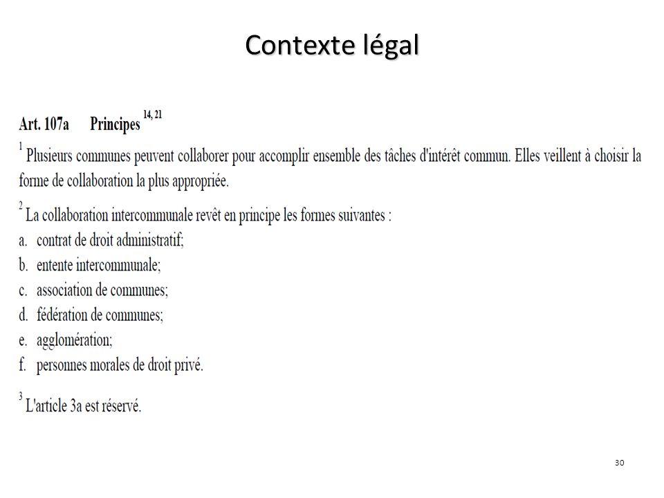 30 Contexte légal LC