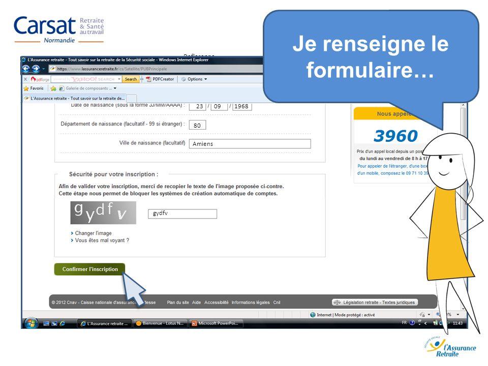www.carsat-normandie.fr Deflorenne Pierre, Marcel, Jacques Deflorenne 23 09 1968 Deflorenne 80 Amiens gydfv Je renseigne le formulaire…