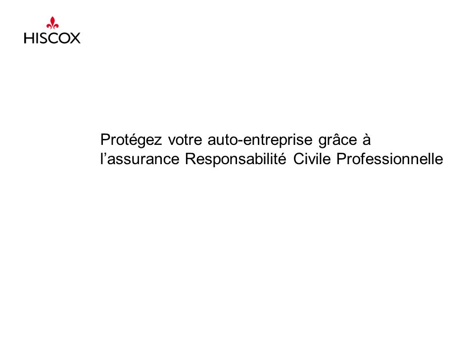 Un problème – Une solution 2 Assurance Responsabilité Civile Professionnelle