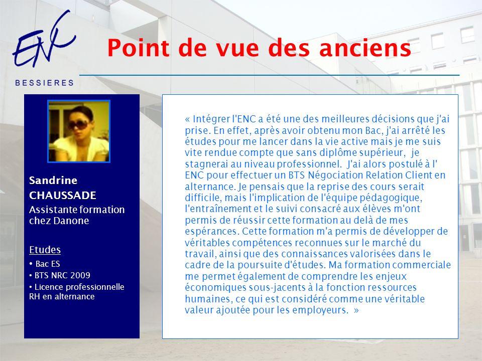LaurentDUSONCHET Manager Expectra Etudes Bac STT AC BTS force de vente Promotion 1998 DEESCOM « Mes deux années au sein de l ENC ont été un tournant dans ma vie personnelle et professionnelle.
