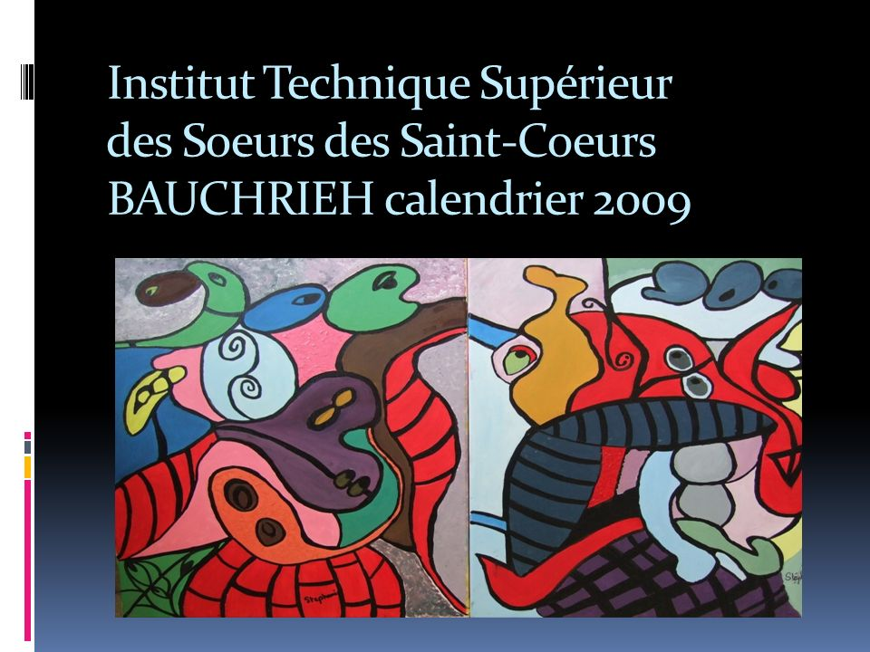 Institut Technique Supérieur des Soeurs des Saint-Coeurs BAUCHRIEH calendrier 2009