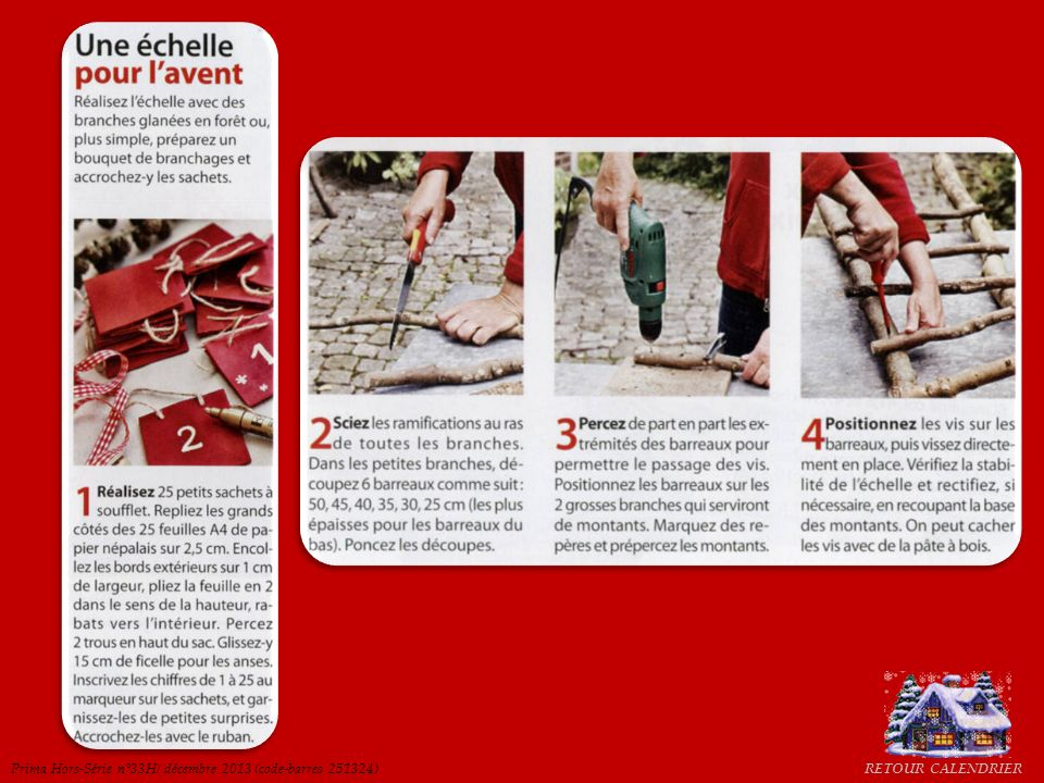RETOUR CALENDRIERPrima Hors-Série n°33H/ décembre 2013 (code-barres 251324)