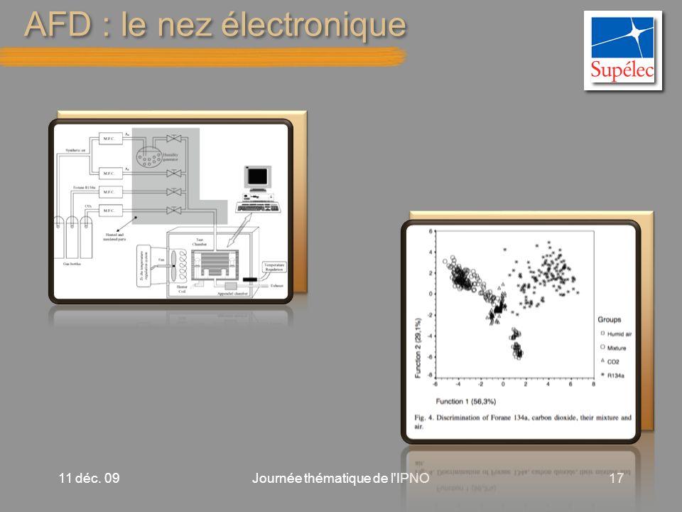 AFD : le nez électronique 11 déc. 09Journée thématique de l IPNO17