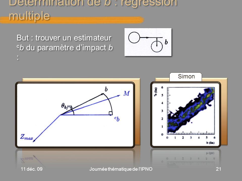 Détermination de b : régression multiple 11 déc.