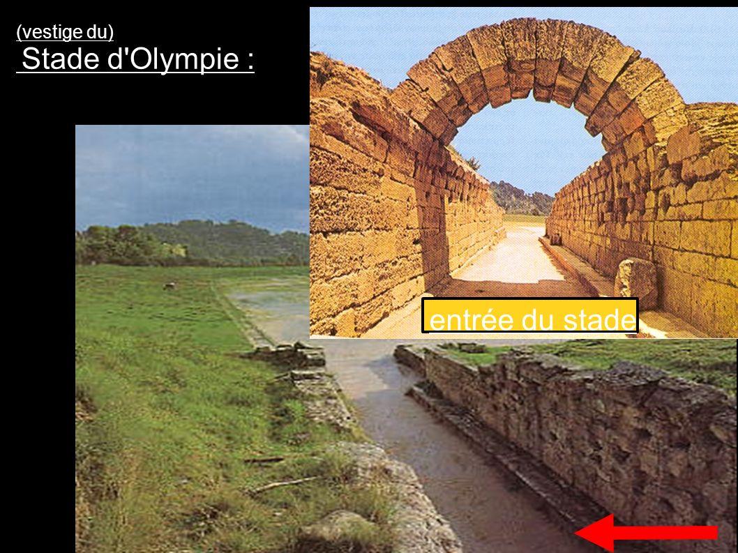 (vestige du) Stade d'Olympie : entrée du stade