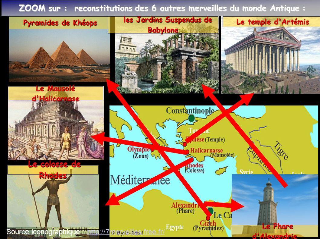 ZOOM sur : reconstitutions des 6 autres merveilles du monde Antique : ZOOM sur : reconstitutions des 6 autres merveilles du monde Antique : Pyramides