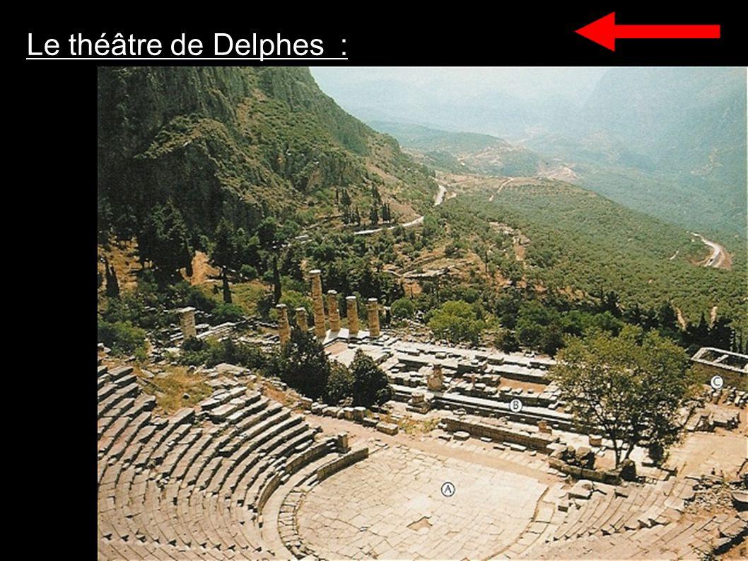 Le théâtre de Delphes :