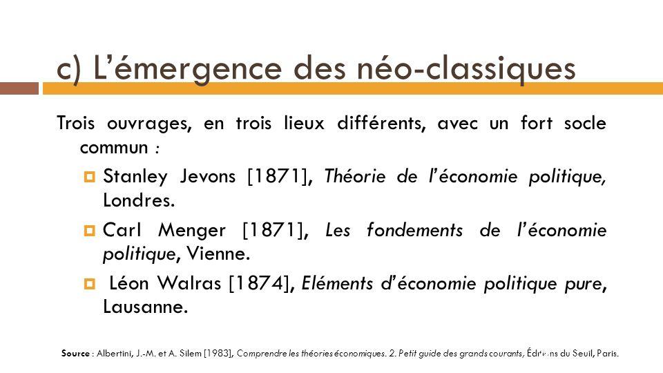 Idéologie libérale et théorie néo-classique...27 Source : Albertini, J.-M.