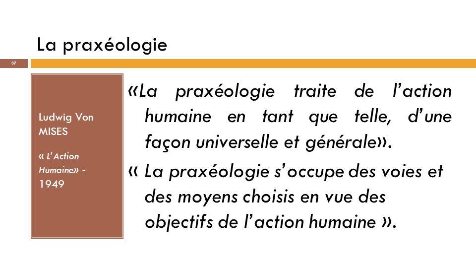 Une conception praxéologique de léconomie R.