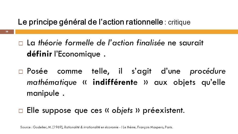 La praxéologie Ludwig Von MISES « LAction Humaine» - 1949 «La praxéologie traite de laction humaine en tant que telle, dune façon universelle et générale».