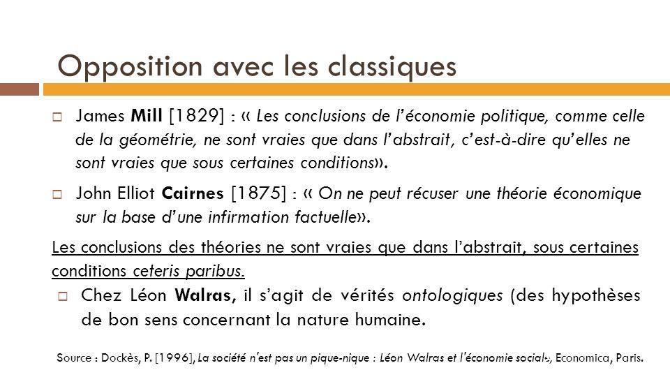 a) Science abstraite vs science concrète Science à priori / déductive : idéalisme Science à posteriori / inductive : empirisme Léon Walras veut une science rationnelle et abstraite.