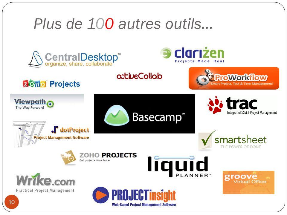 Plus de 100 autres outils… 10