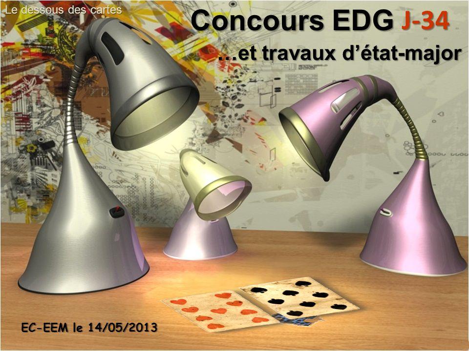 …et travaux détat-major Concours EDG J-34 Le dessous des cartes EC-EEM le 14/05/2013
