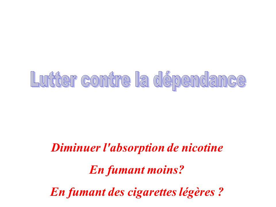 Diminuer l'absorption de nicotine En fumant moins? En fumant des cigarettes légères ?