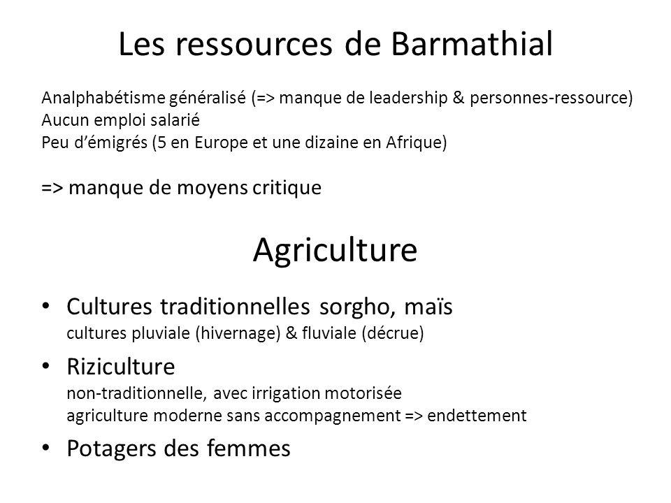 Agriculture Cultures traditionnelles sorgho, maïs cultures pluviale (hivernage) & fluviale (décrue) Riziculture non-traditionnelle, avec irrigation mo
