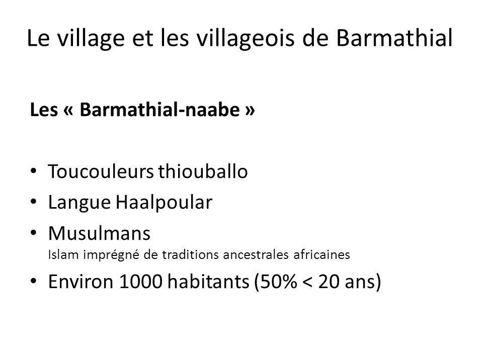 Les « Barmathial-naabe » Toucouleurs thiouballo Langue Haalpoular Musulmans Islam imprégné de traditions ancestrales africaines Environ 1000 habitants