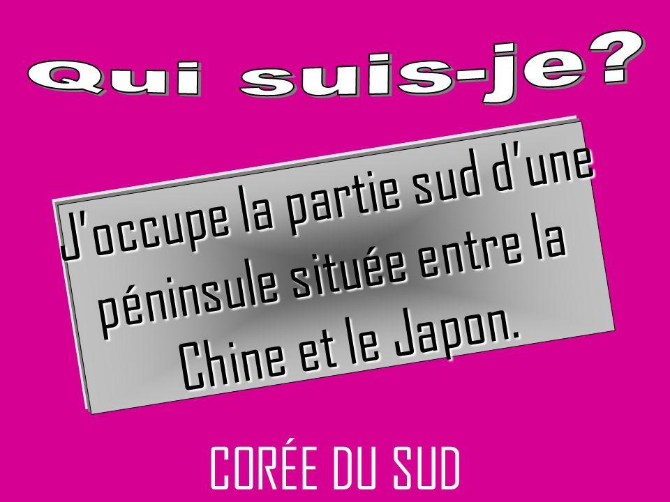 CORÉE DU SUD Joccupe la partie sud dune péninsule située entre la Chine et le Japon.