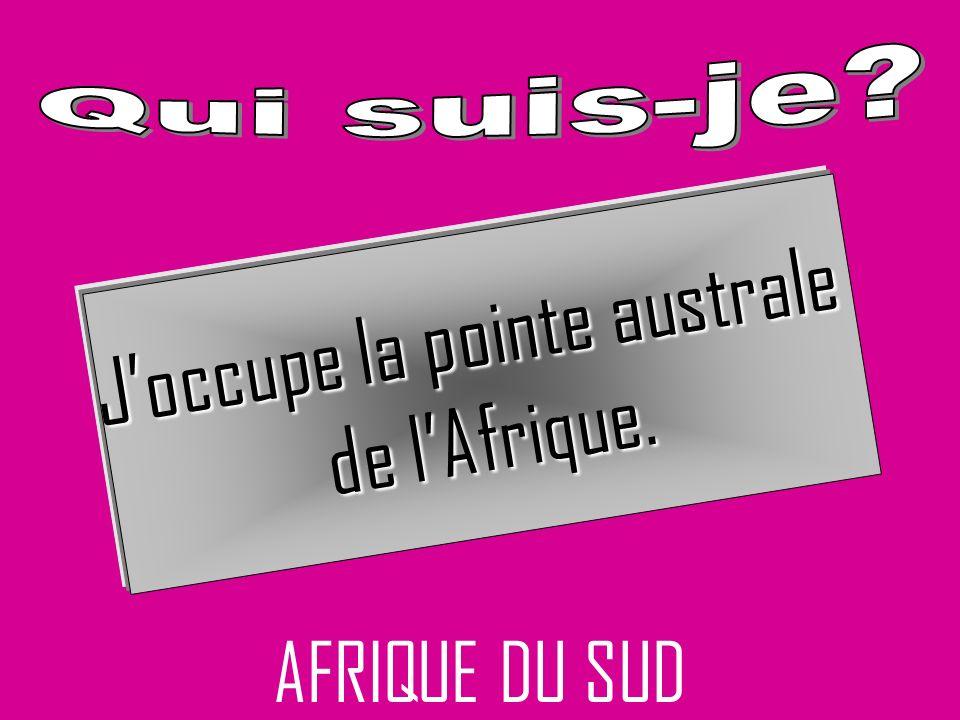 AFRIQUE DU SUD Joccupe la pointe australe de lAfrique.