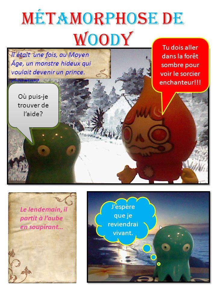 Métamorphose de Woody Il était une fois, au Moyen Âge, un monstre hideux qui voulait devenir un prince. charmant… Où puis-je trouver de laide? Le lend