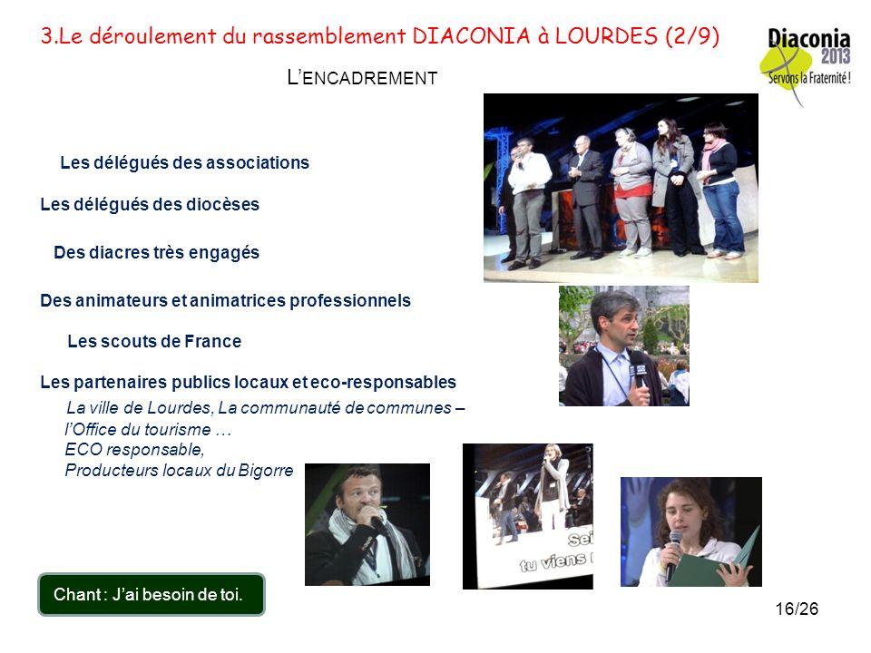3.Le déroulement du rassemblement DIACONIA à LOURDES (1/9) Ils sont venus de toute la France Quelques photos des « responsables » du diocèse. Nos deux