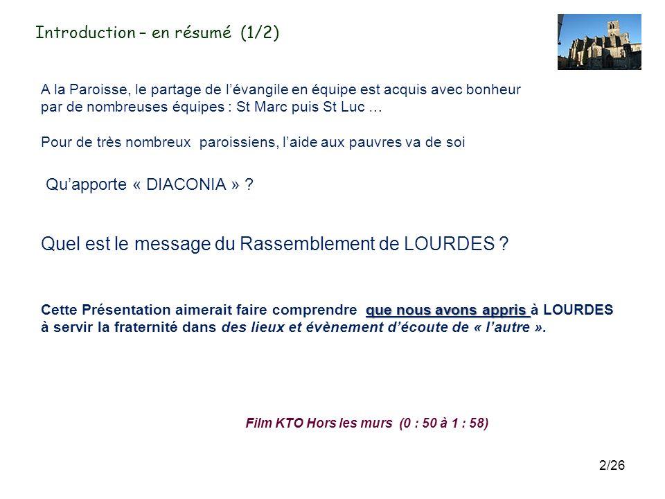 St Fulcran en Lodévois Père Jean-Louis Dusfour Sœur Marie-Claire Présentation du Rassemblement Diaconia à LOURDES aux membres des 10 équipes de la Par