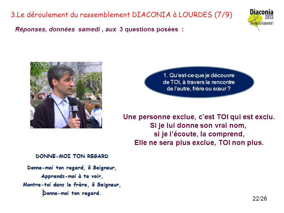 3. Le déroulement du rassemblement DIACONIA à LOURDES (6bis/9) L E SAMEDI 11 MAI 2013 La phrase du jour « Va trouver mes frères … » Entrepreneur dhuma