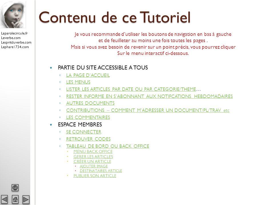 Laparolecircule.fr Leverbe.com Lespritduverbe.com Lephare1734.com DOCUMENTS DIVERS