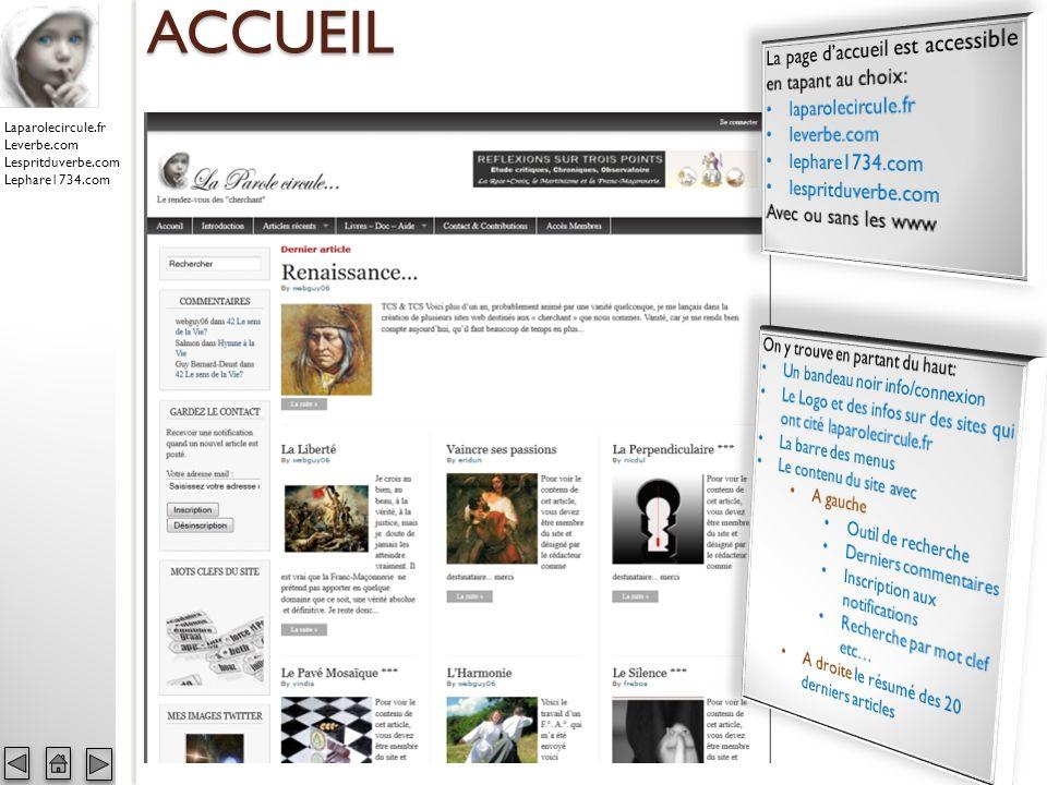 Laparolecircule.fr Leverbe.com Lespritduverbe.com Lephare1734.com COMMENTAIRES