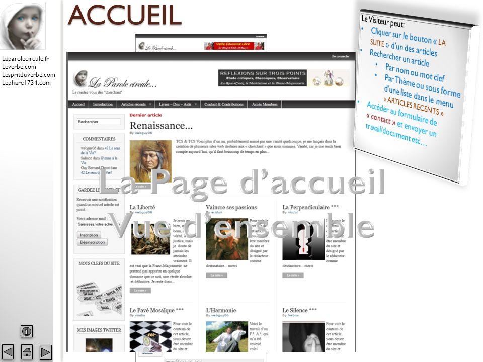 Laparolecircule.fr Leverbe.com Lespritduverbe.com Lephare1734.com ACCUEIL