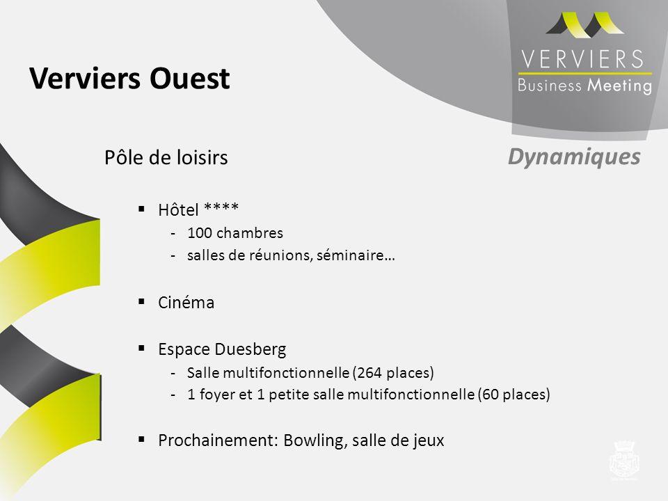 Pôle de loisirs Dynamiques Hôtel **** -100 chambres -salles de réunions, séminaire… Cinéma Espace Duesberg -Salle multifonctionnelle (264 places) -1 f