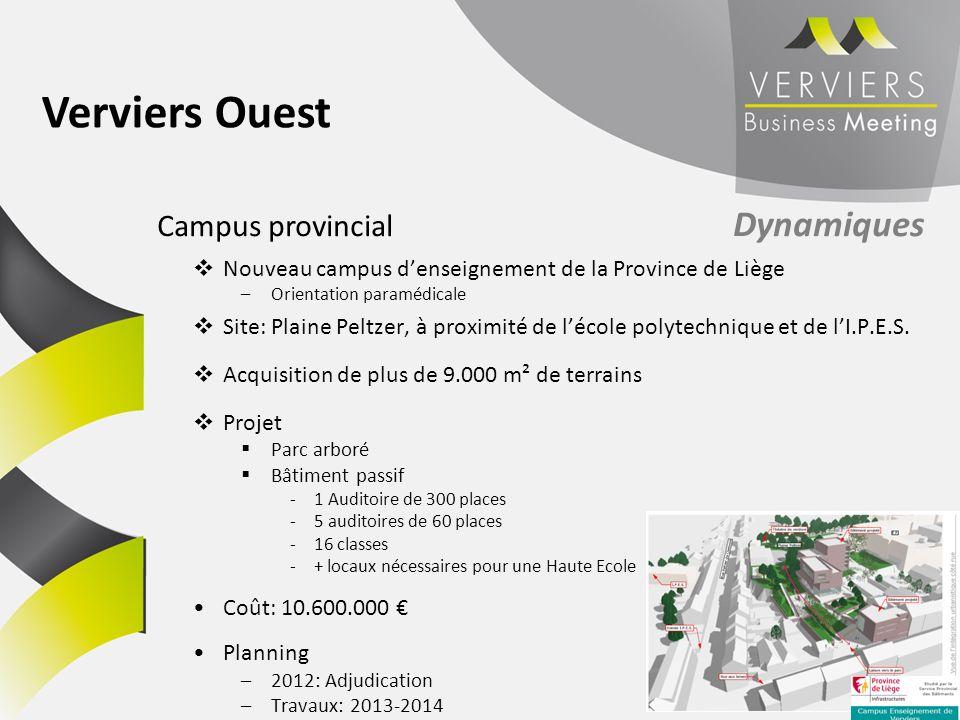 Nouveau campus denseignement de la Province de Liège –Orientation paramédicale Site: Plaine Peltzer, à proximité de lécole polytechnique et de lI.P.E.
