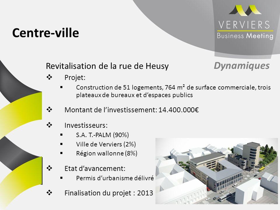 Revitalisation de la rue de Heusy Dynamiques Projet: Construction de 51 logements, 764 m² de surface commerciale, trois plateaux de bureaux et despace