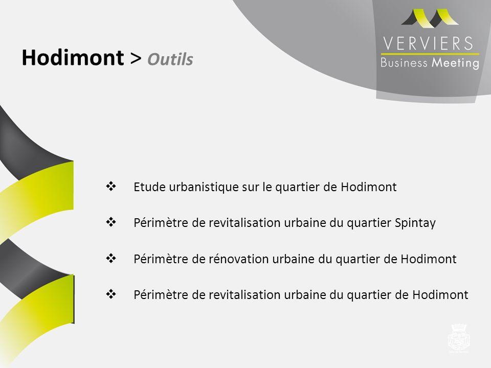Etude urbanistique sur le quartier de Hodimont Périmètre de revitalisation urbaine du quartier Spintay Périmètre de rénovation urbaine du quartier de