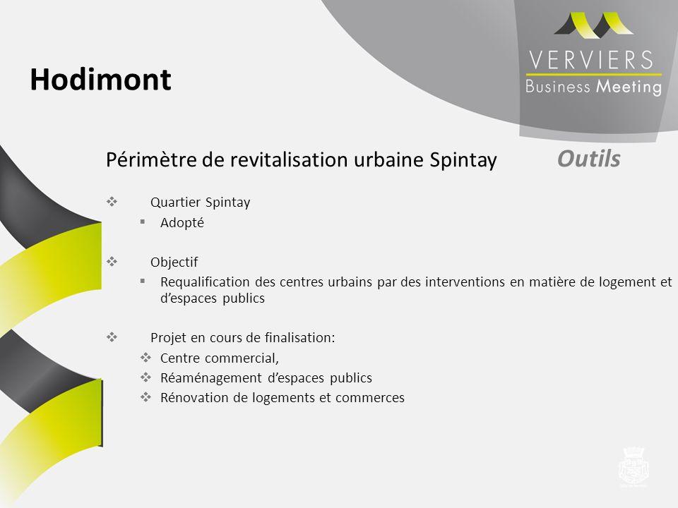 Périmètre de revitalisation urbaine Spintay Outils Quartier Spintay Adopté Objectif Requalification des centres urbains par des interventions en matiè