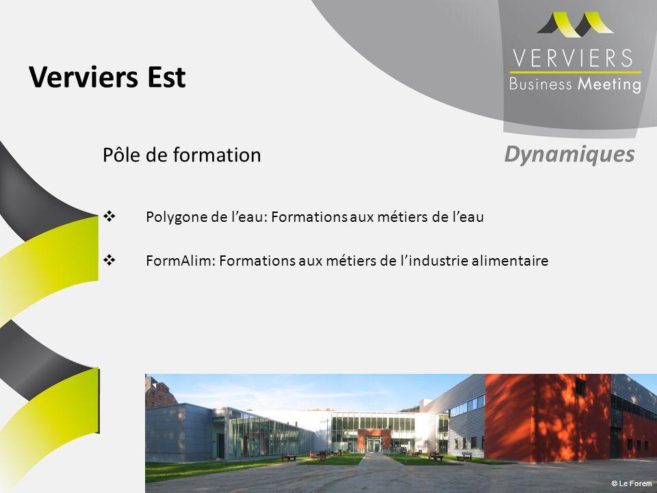 Pôle de formation Dynamiques Polygone de leau: Formations aux métiers de leau FormAlim: Formations aux métiers de lindustrie alimentaire © Le Forem Ve