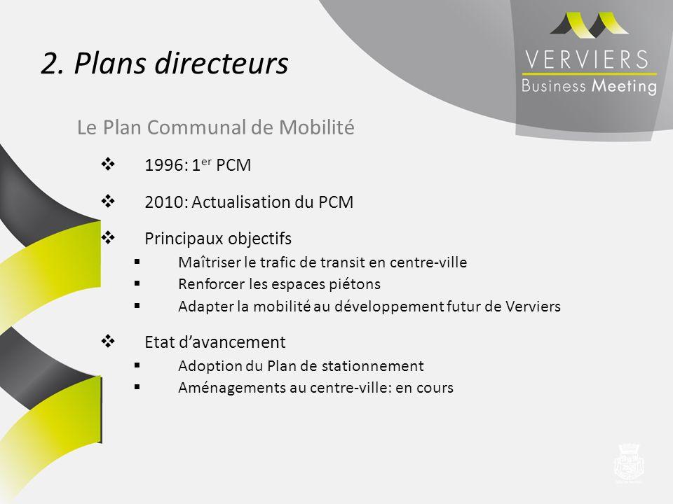 1996: 1 er PCM 2010: Actualisation du PCM Principaux objectifs Maîtriser le trafic de transit en centre-ville Renforcer les espaces piétons Adapter la