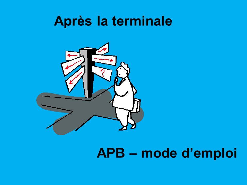 Après la terminale APB – mode demploi